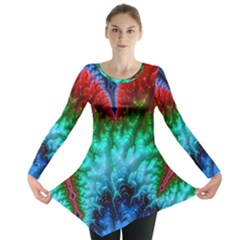 Amazing Special Fractal 25b Long Sleeve Tunic