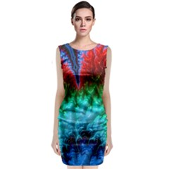 Amazing Special Fractal 25b Classic Sleeveless Midi Dress