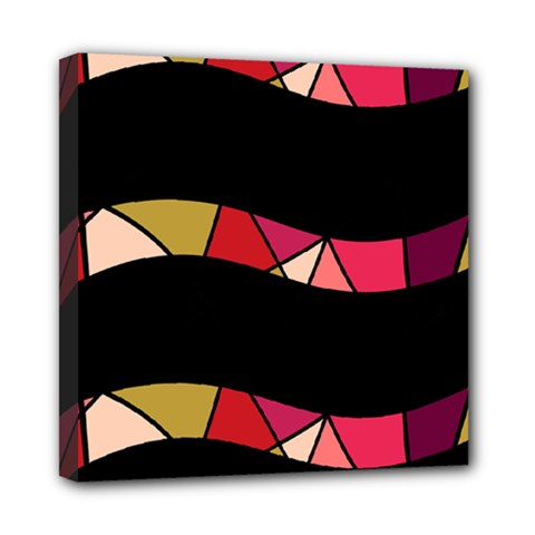 Abstract waves Mini Canvas 8  x 8
