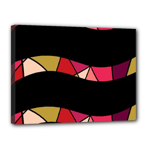 Abstract waves Canvas 16  x 12