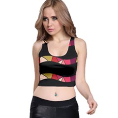 Abstract Waves Racer Back Crop Top