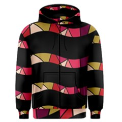 Abstract waves Men s Zipper Hoodie