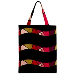 Abstract waves Zipper Classic Tote Bag