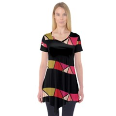 Abstract waves Short Sleeve Tunic