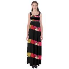 Abstract waves Empire Waist Maxi Dress