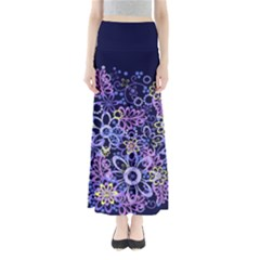 Night Flowers Maxi Skirts