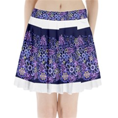 Night Flowers Pleated Mini Mesh Skirt(p209)