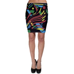 Optimistic abstraction Bodycon Skirt