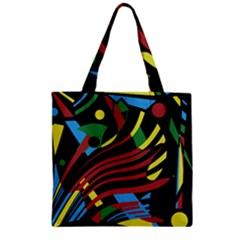 Optimistic abstraction Zipper Grocery Tote Bag
