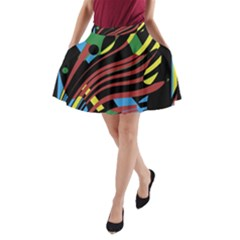 Optimistic abstraction A-Line Pocket Skirt
