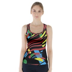 Optimistic abstraction Racer Back Sports Top