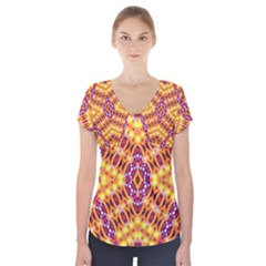 Solar Dial Short Sleeve Front Detail Top