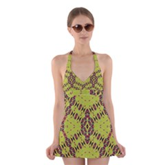 K,ukujjj (4) Halter Swimsuit Dress