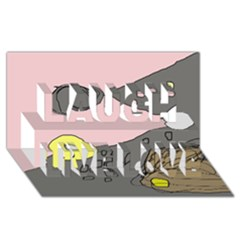 Decorative abstraction Laugh Live Love 3D Greeting Card (8x4)