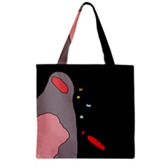 Crazy abstraction Zipper Grocery Tote Bag