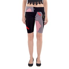 Crazy abstraction Yoga Cropped Leggings