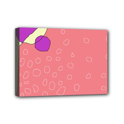Pink abstraction Mini Canvas 7  x 5
