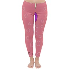 Pink abstraction Winter Leggings