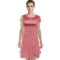 Pink abstraction Cap Sleeve Nightdress