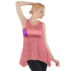 Pink Abstraction Side Drop Tank Tunic