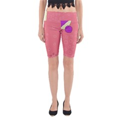 Pink abstraction Yoga Cropped Leggings