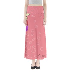Pink abstraction Maxi Skirts