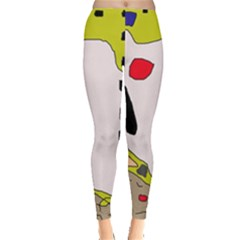 Yellow abstraction Leggings
