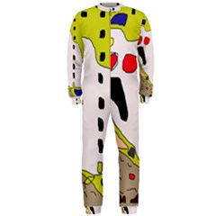 Yellow abstraction OnePiece Jumpsuit (Men)
