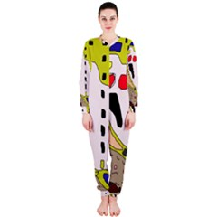 Yellow abstraction OnePiece Jumpsuit (Ladies)