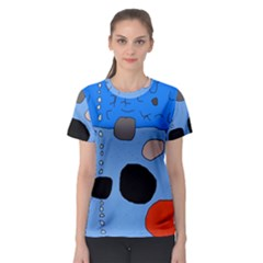 Blue abstraction Women s Sport Mesh Tee