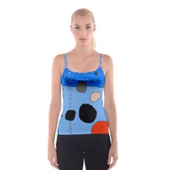 Blue abstraction Spaghetti Strap Top