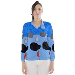 Blue abstraction Wind Breaker (Women)