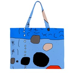 Blue abstraction Large Tote Bag