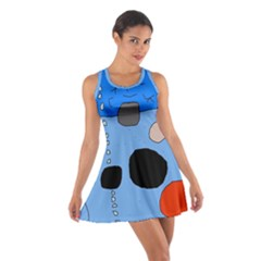 Blue abstraction Racerback Dresses