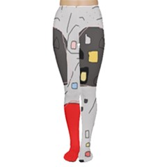 Playful abstraction Women s Tights