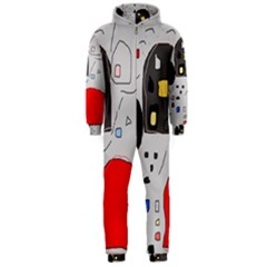 Playful Abstraction Hooded Jumpsuit (men)