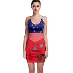 Playful abstraction Sleeveless Bodycon Dress