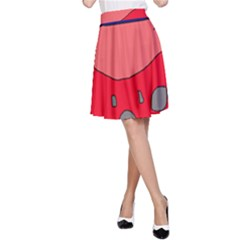 Playful abstraction A-Line Skirt
