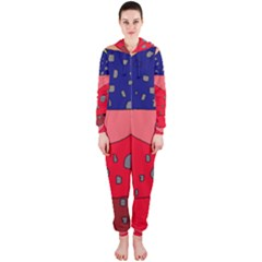 Playful abstraction Hooded Jumpsuit (Ladies)