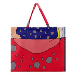 Playful abstraction Zipper Large Tote Bag