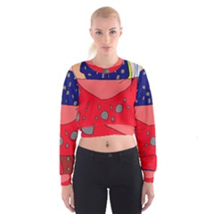 Playful abstraction Women s Cropped Sweatshirt