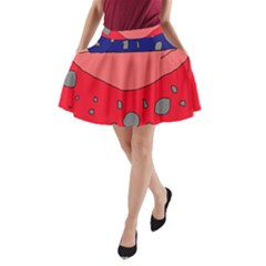 Playful Abstraction A Line Pocket Skirt