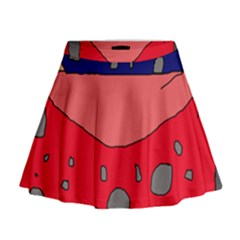 Playful abstraction Mini Flare Skirt