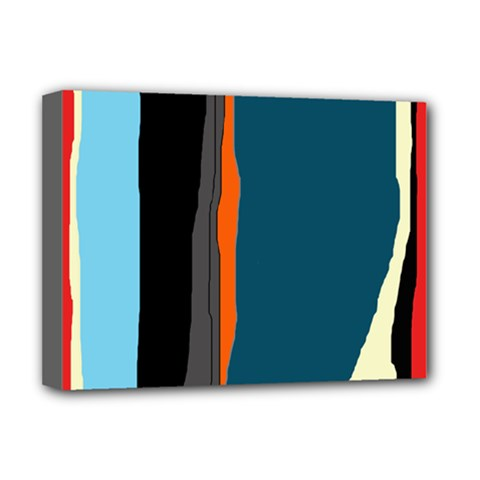 Colorful lines  Deluxe Canvas 16  x 12