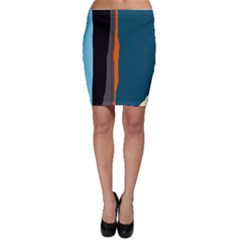 Colorful lines  Bodycon Skirt