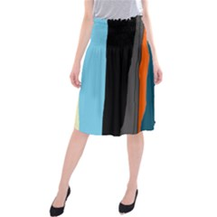 Colorful lines  Midi Beach Skirt
