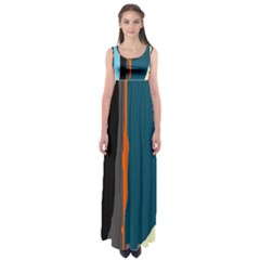 Colorful lines  Empire Waist Maxi Dress