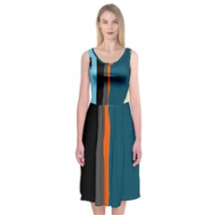 Colorful lines  Midi Sleeveless Dress