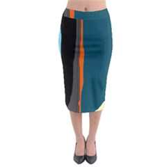 Colorful lines  Midi Pencil Skirt