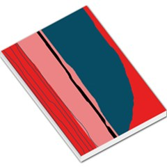 Decorative lines Large Memo Pads